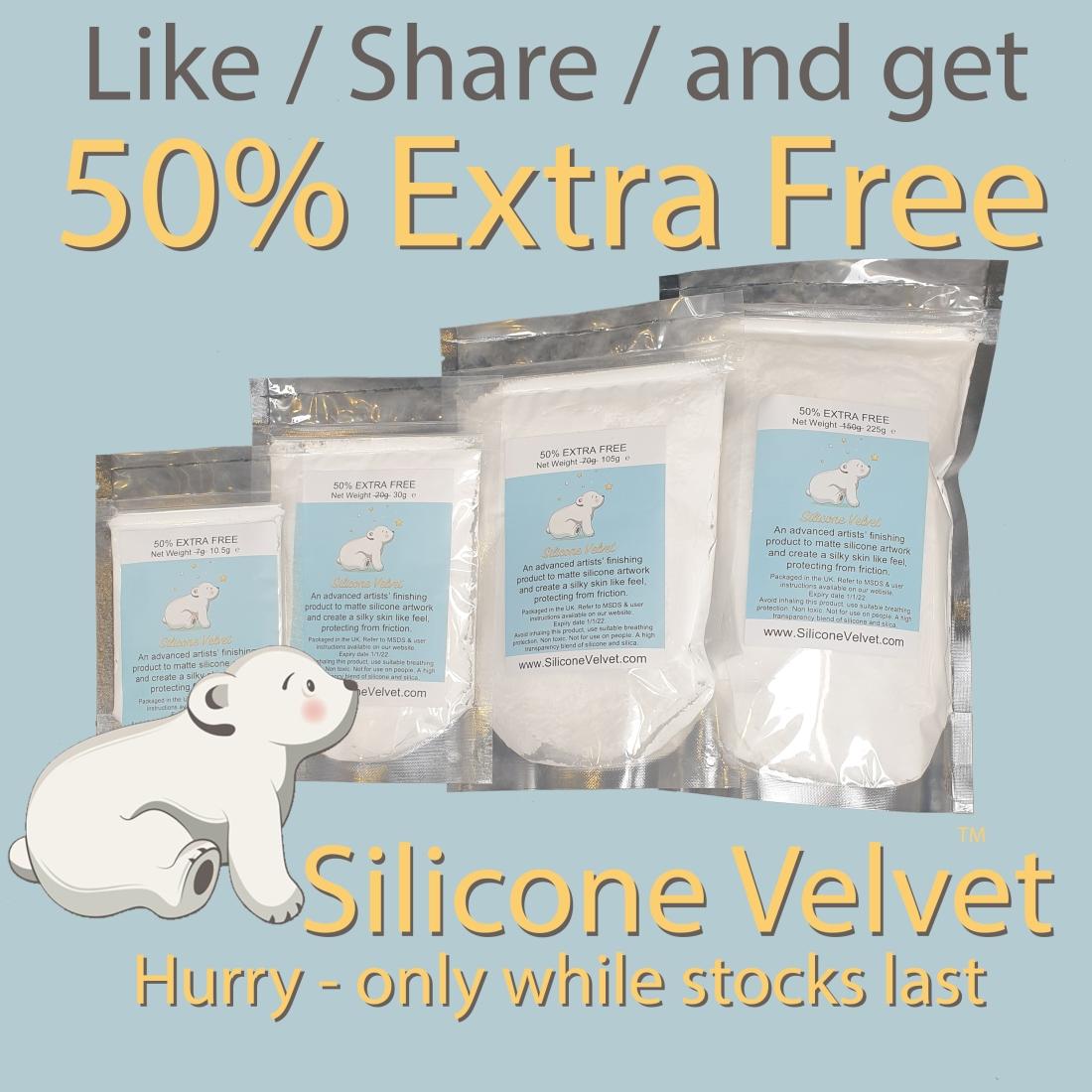 silicone velvet 50% extra free
